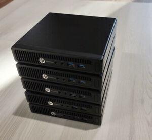 Lot of 5 HP EliteDesk 705 G2 - AMD PRO A8-8600B - 128GB SSD - 8GB RAM - Win 10
