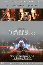 A.I. ARTIFICIAL INTELLIGENCE  -2 DVD BON ETAT REGION/ZONE 1 VIEWED ONCE
