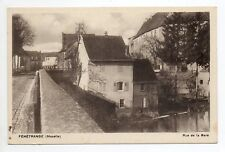 FENETRANGE finstingen Moselle CPA 57 la rue de la gare pont
