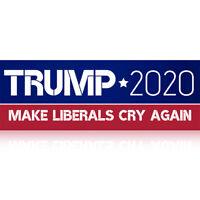 10PCS Donald Trump Bumper Stickers 2020 Support Supplies Make Liberals Cry Again