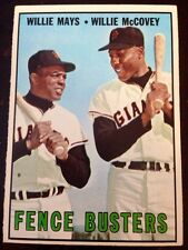 1967 Topps Fence Busters Willie Mays/Willie McCovey Giants (Baseball card) #423