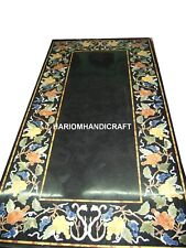 Dining Tops Marble Table Furniture Inlaid Decor & FREE Serving Plate Collectible