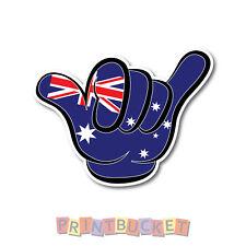Australia Shaka Hang Loose sticker 130mm quality waterproof vinyl no worries