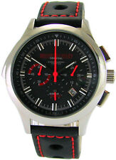 Riedenschild Alarm für Cobra 11 Edelstahl Chronograph Rallye Band schwarz rot