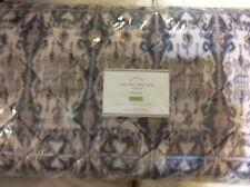 Pottery Barn Sonja Ikat Print Velvet Full/Queen Quilt New! Light F/Q