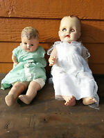 2 Vintage dolls for parts? AS IS- Rough Original Condition 1940's o 50's?