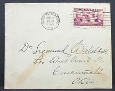US Postal History COVER Saint Petersburg Panama Canal STAMP 3c USA lettera (h-7961