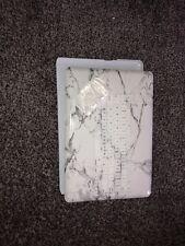 MacBook Pro 15 inch Case 2018 2017 2016 Release, White/grey Marble Hard Case