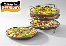 XL Pizzabackset 5 tlg. Backblech Pizzablech Pizzahalter Pizza Backset Blech Set