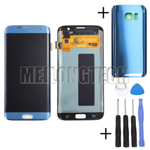 For Samsung Galaxy S7 edge G935F Amoled LCD Display Touch Screen Digitizer blue