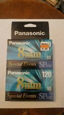 2 pack - Panasonic 8MM 120 SP Camcorder Video Tape - New