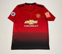 Manchester United Mens Jersey Shirt Red V Neck Short Sleeve Soccer Football S