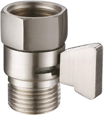 Water Flow Control Valve, Angle Simple Brass Shut Off Valve for Handheld Shower,