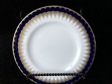 """Coalport China """"Buckingham """" Luncheon Plate Blue And Gold 7.5 Inch"""