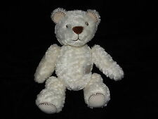 MOTHERCARE TEDDY BEAR SOFT TOY CREAM WHITE COMFORTER BABY RATTLE DOUDOU