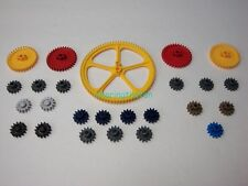 "KNEX Gears Mix 5"" 2 1/4"" 1 Inch Yellow Red Gray Gold Blue Black Parts/Pieces Lot"