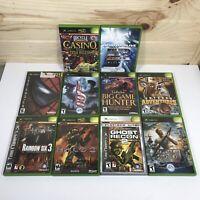 Lot of 10 original xbox Games Spiderman 007 Ghost Recon 2  Rainbow Six + More