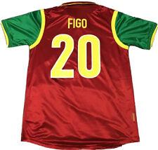 MINT SUPER RARE 1996-1998 Portugal Home LUIS FIGO #20 Soccer football jersey, XL