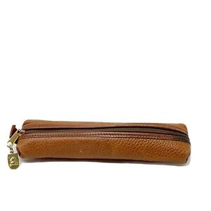 Vintage Mark Cross brown Leather Pen Pencil Case made in Italy