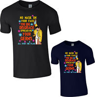Freddie Mercury T-Shirt No Mask On Your Face You Big Disgrace British Singer Top