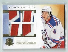 09-10 UD The Cup Foundations  Michael Del Zotto  1/10  First Card  Quad Patches