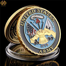 America Military Coin U.S. Department Of The Navy Gold Plated Challenge Coin