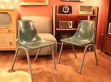 Vintage Pair of Howell Molded Plastic Chairs Retro Mid Century