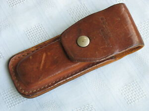 Chicago Cutlery Leather Belt Sheath, Fits Folding Hunter (Knife not Included)