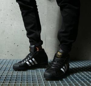 Adidas Originals Mens Pro Model Shoes Black/White/Gold FV5723 UK 7.5 to 12