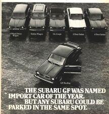 Subaru GF Hardtop Import Car Of The Year 1975 Vintage Print Ad