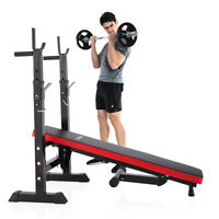 Black Folding Weight Lifting Incline Bench Adjustable Heavy duty