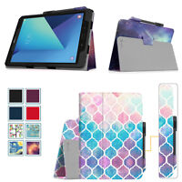 For Samsung Galaxy Tab S3 9.7 Case PU Leather Stand Cover with S Pen Holder