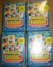 (4) 2018 Topps ARCHIVES Baseball BLASTER BOXES Factory Sealed *2 COINS PER BOX*