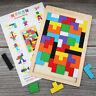 Holz Puzzle Tetris Spielzeug Geometrie Kinder Lernspiel Formenspiel Kinder Baby