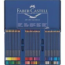 FABER CASTELL ARTE Grip AQUARELLE Acquerello MATITE - 60 COLORI TIN