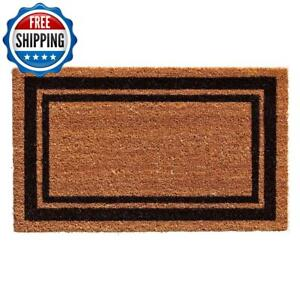 Outdoor Door Entrance Floor 18x30 Front Carpet Rug Rectangle Home Border Black