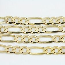 """10k Yellow Gold Figaro Chain Necklace 16""""(new, 19.20g)#2488a"""