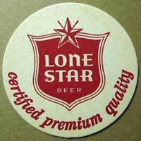 LONE STAR BEER Certified Premium Quality COASTER, Mat,TEXAS