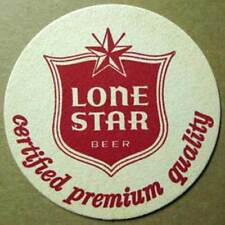 LONE STAR BEER Certified Premium Quality 4 1/4 inch Beer COASTER, Mat, TEXAS