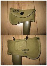 esercito degli Stati Uniti Ascia Copertina Axe Cover Kaki SEMS INC 1942 USMC