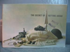 THE SECRET OF GETTING AHEAD old  Vietnam era U.S Army information booklet draft
