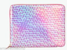 NWT Marc Jacobs Lynne Print Rose Gold Hologram iPad Folio Tablet Book Case