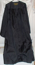 Graduation Gown ~ Also Good for Choir/Pulpit/Halloween Costumes ~ Black 5'6 5'8