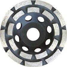 "3 Floor Concrete Stone Diamond Grinding Cup Discs. Double Row 4.5"" 115mm."