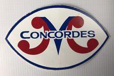 Vintage CFL Montreal Concordes Sticker / Decal