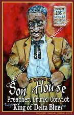 Son House Poster by Cadillac Johnson