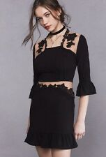 NWT XS For Love and Lemons Black Lilou Floral Mesh Dress Free People Sold Out