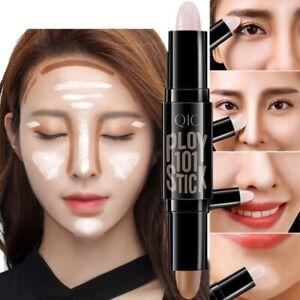 Double Concealer Stick Face Highlighter Pen Blemish Makeup Shadow Bronzer
