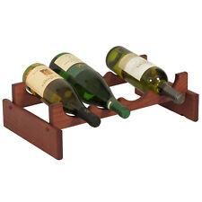 Wooden Mallet 4 Bottle DakotaWine Rack - WR41MH Wine Rack NEW