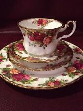 "BEAUTIFUL ROYAL ALBERT ""OLD COUNTRY ROSES"" CUP, SAUCER & PLATE TRIO + FRUIT BOWL"